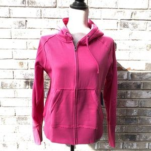 FINISH LINE FLEECE LINED ZIPPED HOODIE size L
